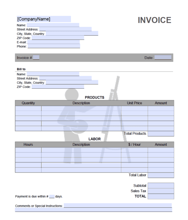 artist invoice template. Black Bedroom Furniture Sets. Home Design Ideas