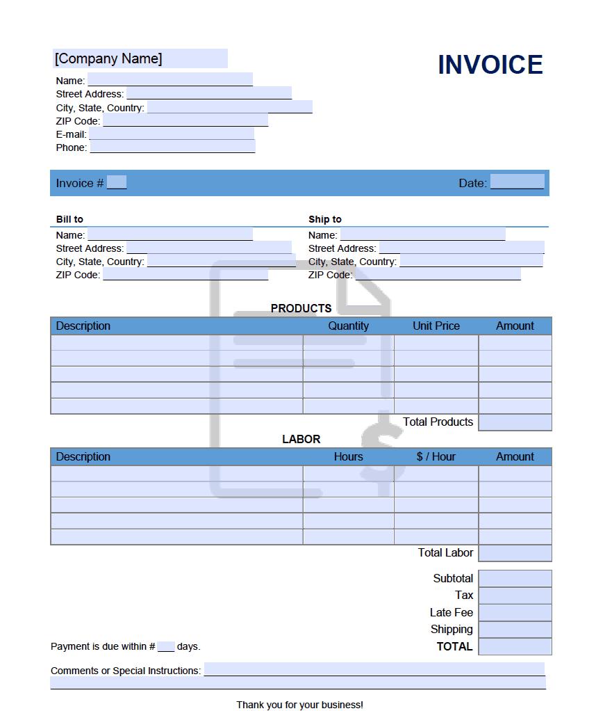 Past Due Invoice Template Onlineinvoice Com
