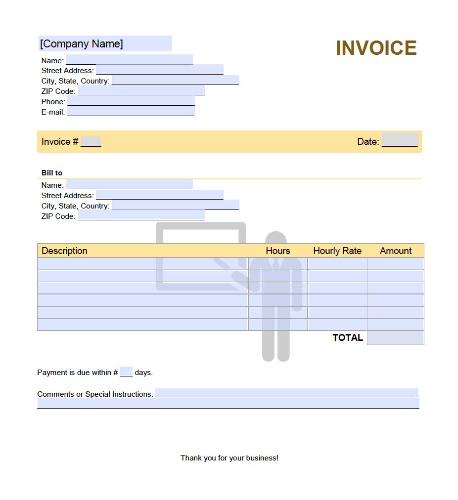 teacher invoice template
