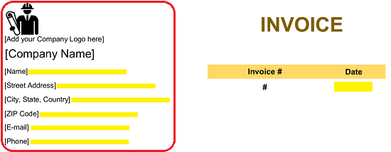Independent Contractor (1099) Invoice Template